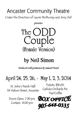 ODD COUPLE 4 BY 6 POSTER